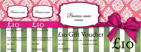 Shabby Chic Gift Card Template by Ticket Design Shabby Chic Gift Vouchers Template