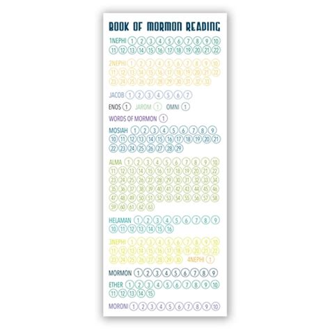 printable lds bookmarks book of mormon reading chart bookmark large printable