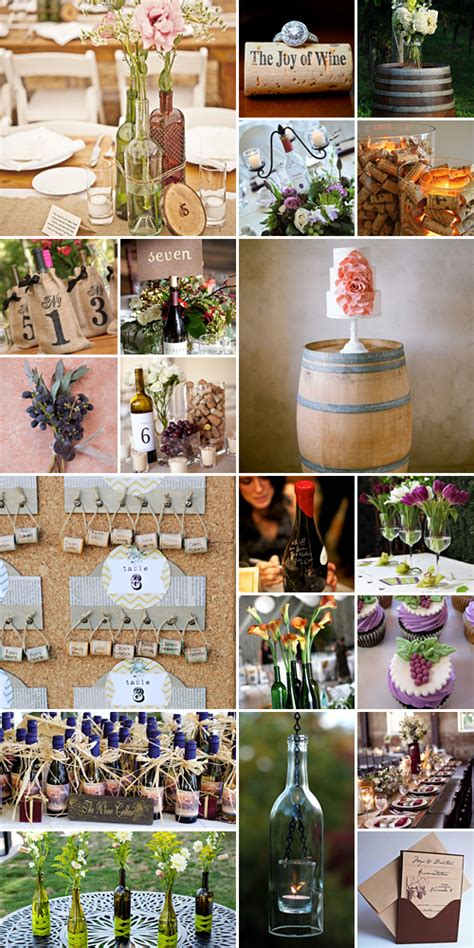 wine themed wedding decorations wine wedding theme