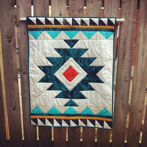 tribal pattern baby clothes handmade tribal aztec quilt baby quilt wallhanging