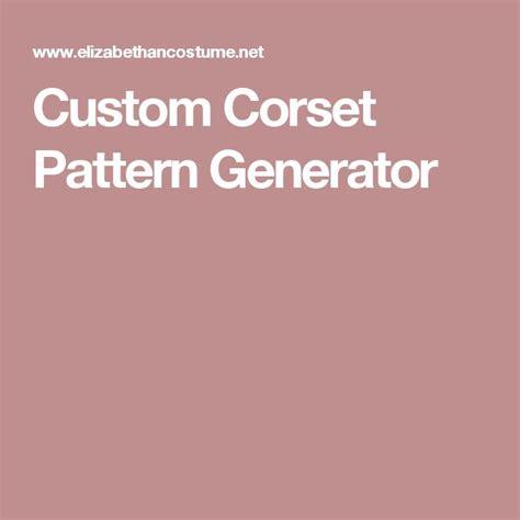 pattern generator clothes 1000 ideas about corset pattern on pinterest diy corset