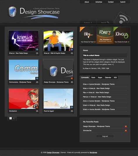 theme wordpress udesign design showcase wordpress theme wpthemes com wordpress