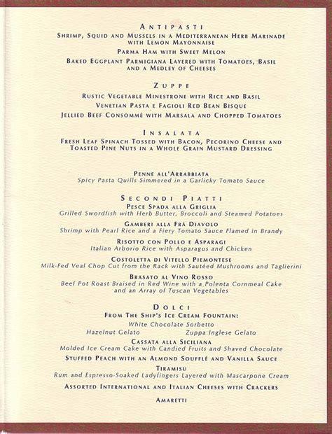 italian dinner menu tuesday menu italian dinner