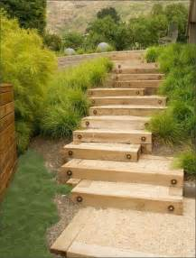 garden steps wood gravel landscape by design