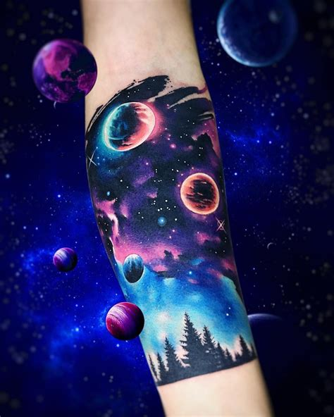 galaxy sleeve tattoo galaxy half sleeve by adrian bascur tattoos