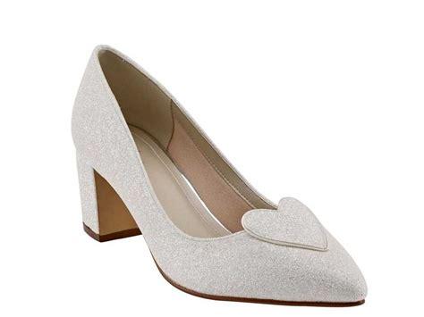 rainbow club birdy block heel ivory shimmer wedding shoe