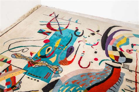 Joan Miro Rug by An Abstract Wool Rug Tapestry In The Style Of Joan Mir 243 At