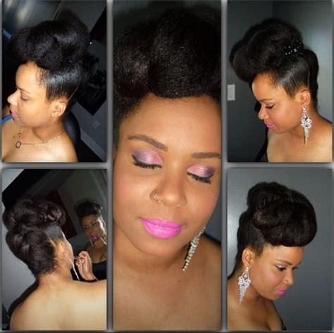 natural updo hairstyles for black women using kanekalon hair via natural hair mag elegant updo using 99 braiding