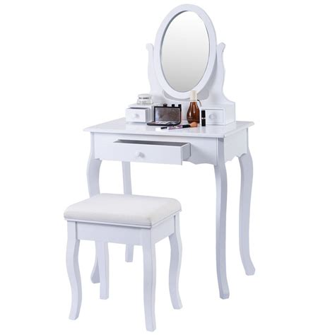 jewelry desk classic vanity white table jewelry makeup desk bench