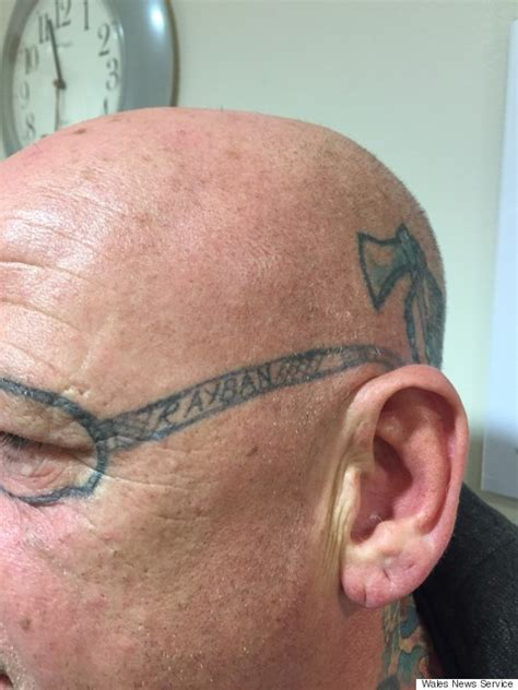 man wakes up with ray ban sunglasses tattooed on his