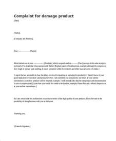 Complaint Letter For Damaged Goods Exle Complaint Letter Damaged Goods Cover Letter Templates