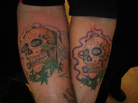 matching skull tattoos for couples heavy metal cool matching tattoos for couples