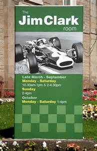 Jim Clark Room by A Signboard At The Jim Clark Room Duns 169 Walter Baxter