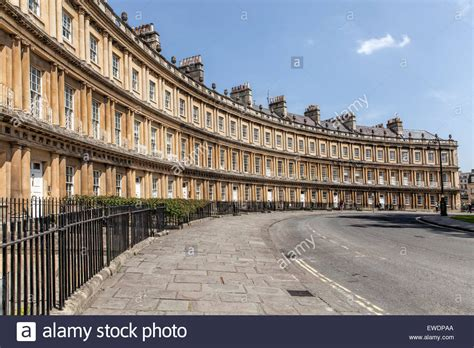 Section Of Georgian Houses In The Circle In Bath Stock Photo Royalty Free Image
