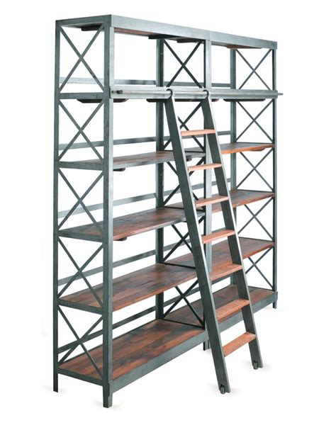 bookshelf with ladder