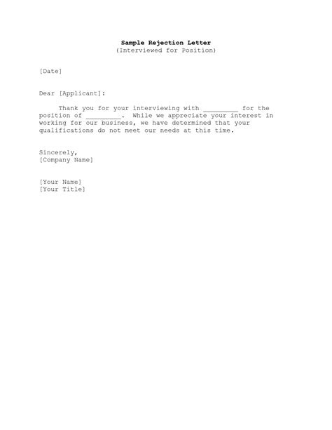 thank you letter after rejection employer best photos of post rejection letter thank you