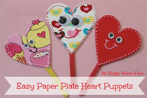 How To Make A Paper Plate Puppet - easy paper plate puppets happy home