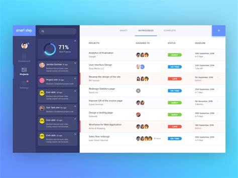 managing ui pattern collections project management tool ui uplabs