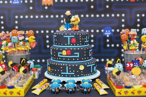 themes video games kara s party ideas pac man video game birthday party