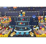 Karas Party Ideas Pac Man Cake From A Video Game