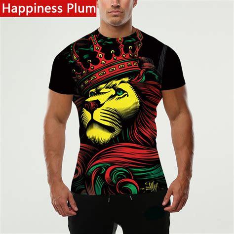 Standfree T Shirt happiness plum rasta clothing rasta t shirt shirt king style 3d printed t shirts