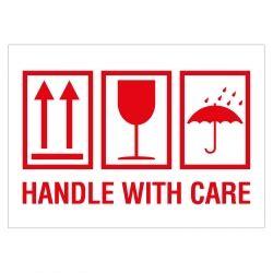 Adressaufkleber Englisch by Verpackungskennzeichen Quot Handle With Care Quot Wei 223 Rot