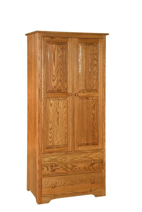 shaker style amish made wardrobe armoire from dutchcrafters