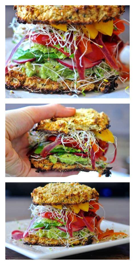 Low Yet Tasty Sandwich Spreads by Cauliflower Bread Veggie Sandwich With Avocado Spread