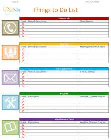 to do list template download free to do list