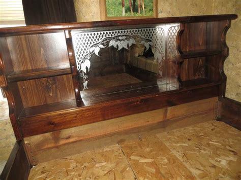 waterbed headboards queen wood bed frame waterbed mirror shelf headboard