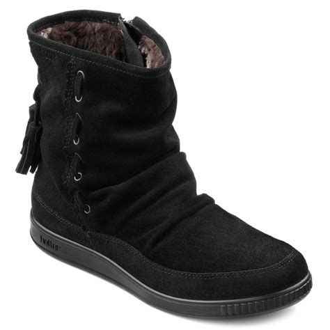 hotter pixie soft black suede ankle boots