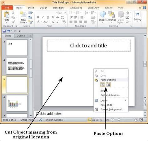 copy paste content in powerpoint 2010 the highest