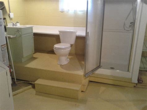 basement bathroom lift station