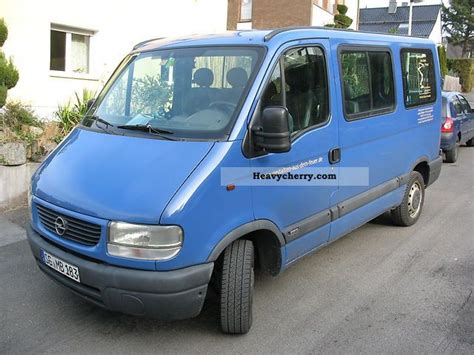 opel movano 2001 opel movano 2001 estate minibus up to 9 seats truck