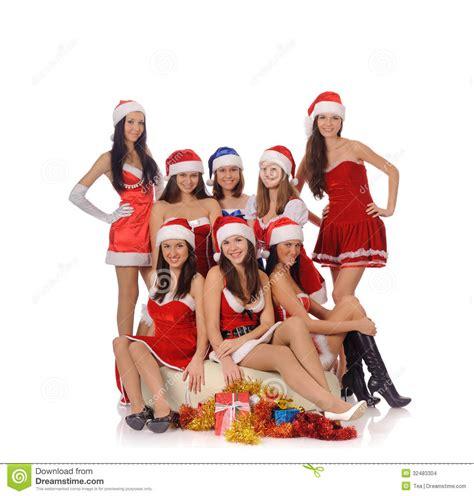 imagenes de navidad mujeres mujeres de la belleza en trajes de la navidad imagenes de