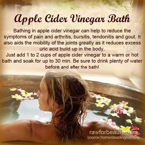 Apple Cider Vinegar Detox Bath Benefits by Apple Cider Vinegar Bath Health Tips More
