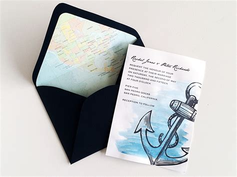Nautical Wedding Invitation Template Sunshinebizsolutions Com Anchor Wedding Invitation Templates