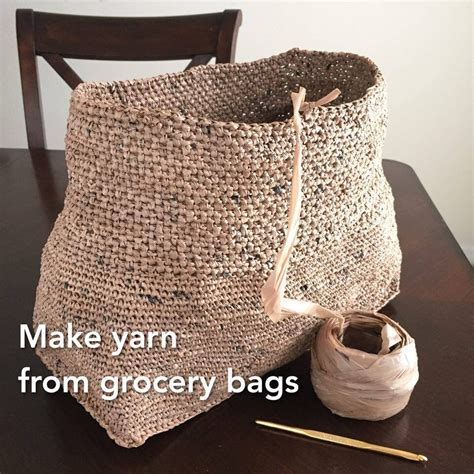 crochet grocery bag pattern youtube making yarn plarn from grocery bags to crochet into totes