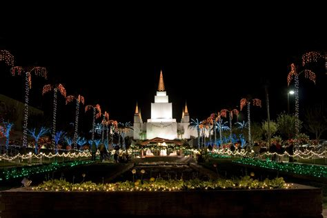 Oakland California Temple At Christmas Oakland Temple Lights