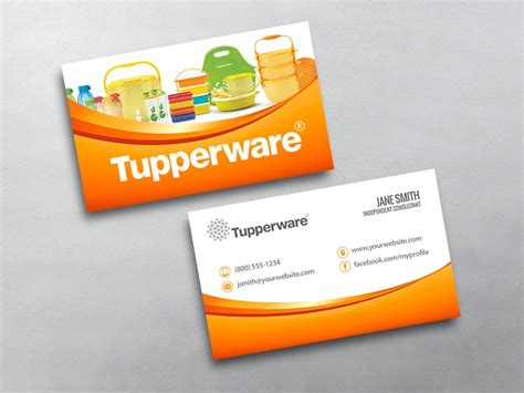 free tupperware business cards template tupperware business card 02