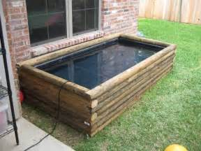 Landscape Timber Koi Pond Ideas For On Ground Temporary Pond