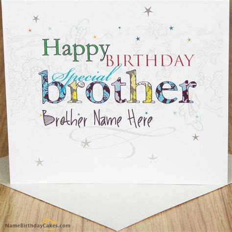 Birthday Cards For Brothers Funny Birthday Card For Brother With Name