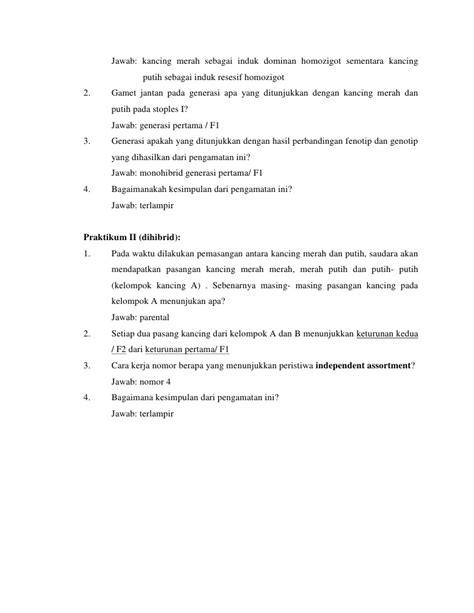 contoh laporan jagung contoh laporan praktikum hukum mendel laporan 7
