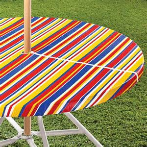 Patio Table Tablecloths Striped Umbrella Table Cover Outdoor Table Cloth Walter