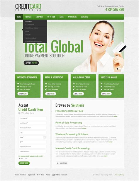 banking templates for a website bank website template 38764