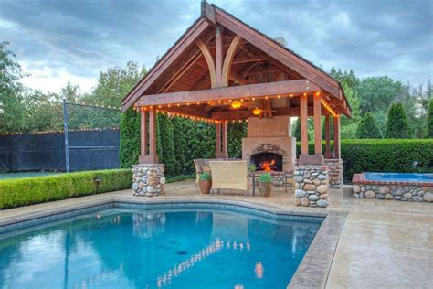 25 beautiful gazebos around pools pixelmari