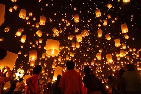 new year peace lantern festival celebrate loy krathong in thailand black tomato