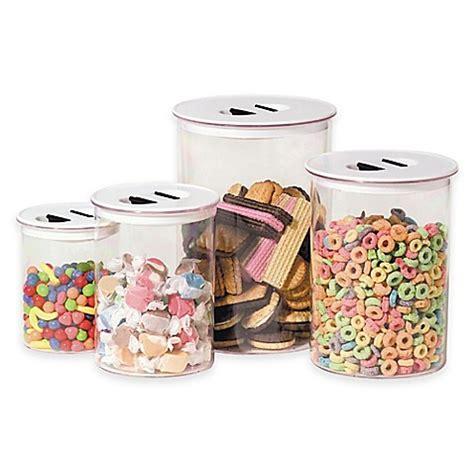 oggi kitchen canisters oggi 4 stack n store canister set bed bath beyond