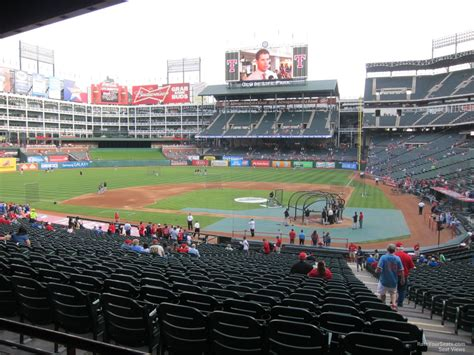 rangers sections globe life park section 123 rateyourseats com