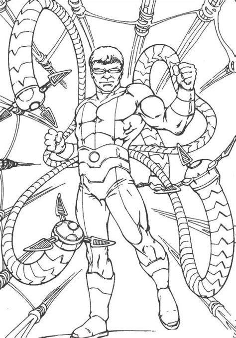 dr octopus free colouring pages